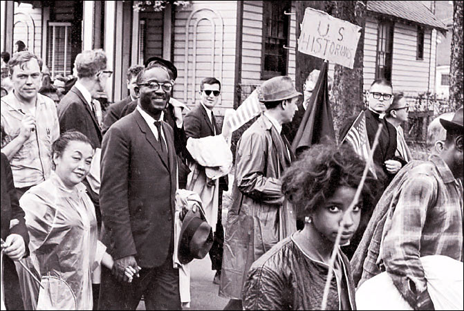 John Hope Franklin on the march from Selma to Montgomery, 1965.