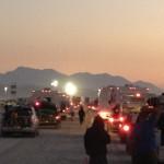 Sunrise at Entrance of Burning Man